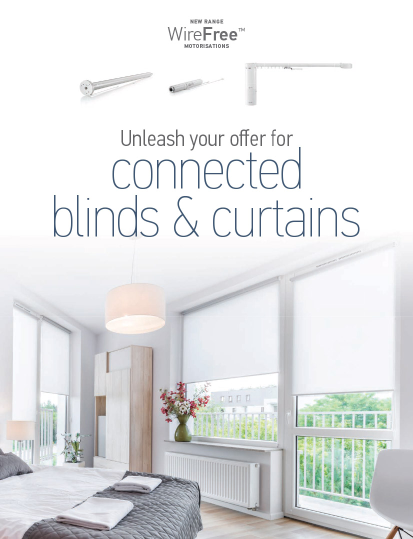 Professionals can now unleash their offer for connected blinds and curtains